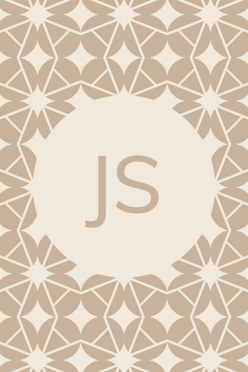 JS Initials surrounded by geometric pattern